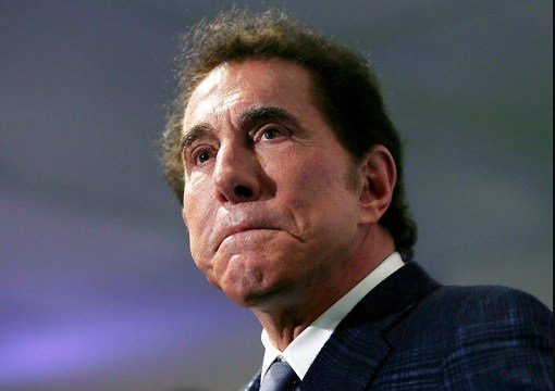 Casino mogul Steve Wynn at a news conference in Medford, Mass.