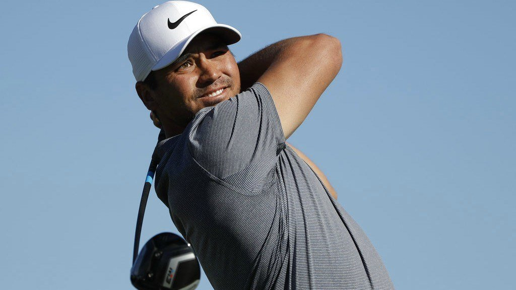 Jason Day, of Australia, watches his tee shot on the second hole of the South Course at Torrey Pines Golf Course during the final round of the Farmers Insurance Open golf tournament, Sunday, Jan. 28, 2018, in San Diego. (AP Photo/Gregory Bull)