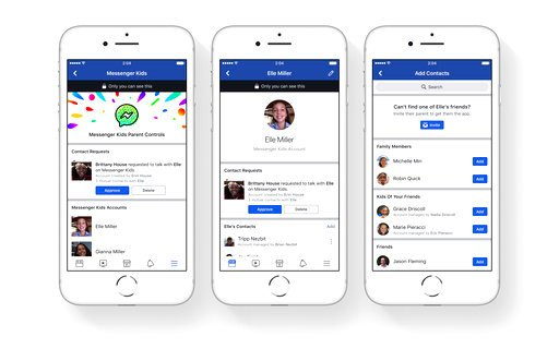 FILE - This file photo provided by Facebook demonstrates parental controls on Facebook's new Messenger app for kids. (Courtesy of Facebook via AP, File)