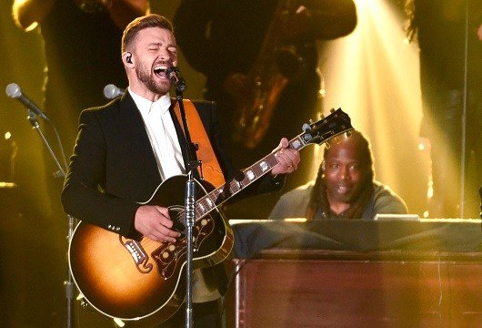 Justin Timberlake performs at the 49th annual CMA Awards in Nashville, Tenn.