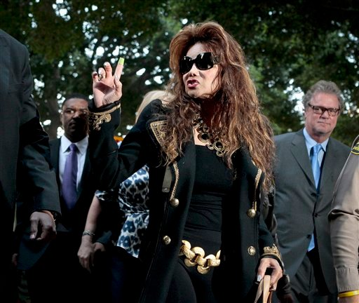 LaToya Jackson arrives at the Criminal Justice Center, Monday, Nov. 7, 2011, in Los Angeles, after it was announced that the jurors had reached a verdict in the involuntary manslaughter trial of Dr. Conrad Murray.