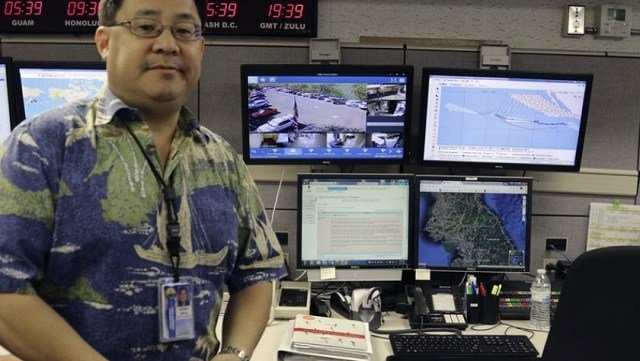 Jeffrey Wong, current operations officer for the Hawaii Emergency Management Agency, poses for a photo in Honolulu.