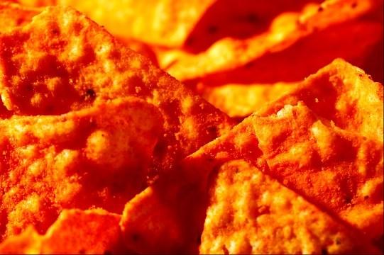 Nacho Cheese flavored Doritos.