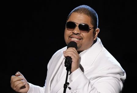 FILE - In this Feb. 8, 2009 file photo, rapper Heavy D, born Dwight Arrington Myers, performs at the 51st Annual Grammy Awards in Los Angeles.