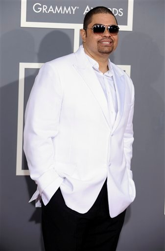 FILE - In this Feb. 8, 2009 file photo, rapper Heavy D, also known as Dwight Arrington Myers, arrives at the 51st Annual Grammy Awards in Los Angeles. A representative confirmed Tuesday, Nov. 8, 2011.