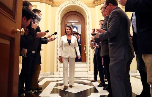 """Pelosi was attempting to force a House vote on protections for the """"Dreamer"""" immigrants and to prove to an increasingly angry wing of progressives and activists that she has done all she could. (AP Photo/Pablo Martinez Monsivais)"""