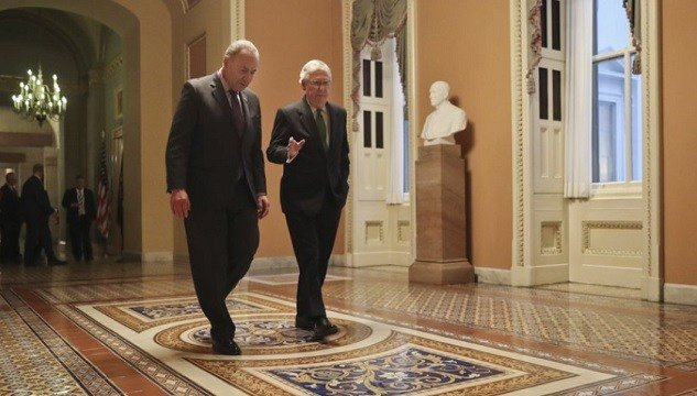 Senate Majority Leader Mitch McConnell, R-Ky., and Senate Minority Leader Chuck Schumer, D-N.Y.