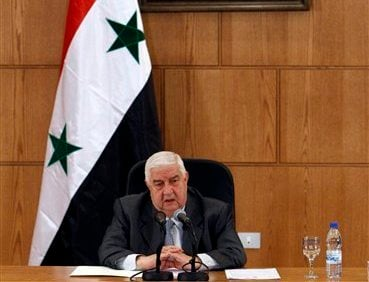 Syrian Foreign Minister Walid al-Moallem speaks during a press conference, in Damascus, Syria, on Monday Nov. 14, 2011. (AP)