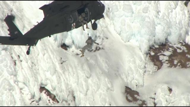 Authorities say a rescue effort is underway on Mount Hood.