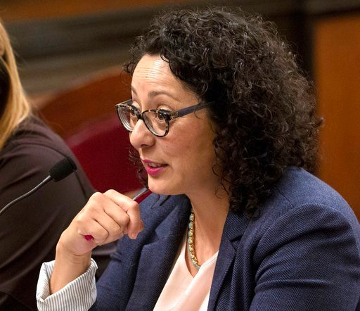 FILE - In this June 22, 2016 file photo, Assemblywoman Cristina Garcia, D- Bell Gardens, speaks at the Capitol in Sacramento, Calif. (AP Photo/Rich Pedroncelli, File)