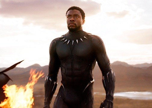"Disney and Marvel Studios' shows Chadwick Boseman in a scene from ""Black Panther."""