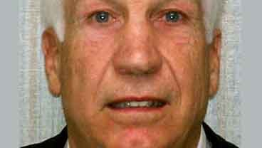 """This Nov. 5, 2011 file photo provided by the Pennsylvania Office of Attorney General shows former Penn State football defensive coordinator Gerald """"Jerry"""" Sandusky. (AP Photo/Pennsylvania Office of Attorney General, File)"""