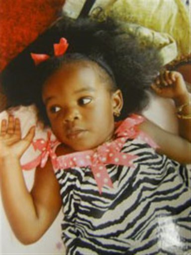 This photo provided by the Ocean County Prosecutor's Office shows Tierra Morgan of Lakehurst NJ, who was found dead in her car seat, partially submerged in a stream in Monmouth County's Shark River Park.