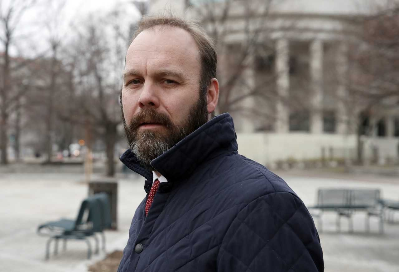 Rick Gates departs Federal District Court. Special counsel Robert Mueller filed additional criminal charges Thursday against President Donald Trump's former campaign chairman Paul Manafort and his business associate, Gates. (AP Photo/Alex Brandon, File)