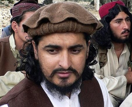 In this this Oct. 4, 2009 file photo, Pakistani Taliban chief Hakimullah Mehsud, is seen in Sararogha of the Pakistani tribal area of South Waziristan along the Afghanistan border. (AP)