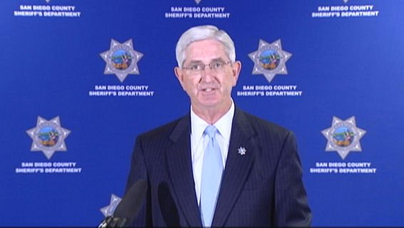 Sheriff Bill Gore fields questions from reporters during a Sept. 2 news conference.
