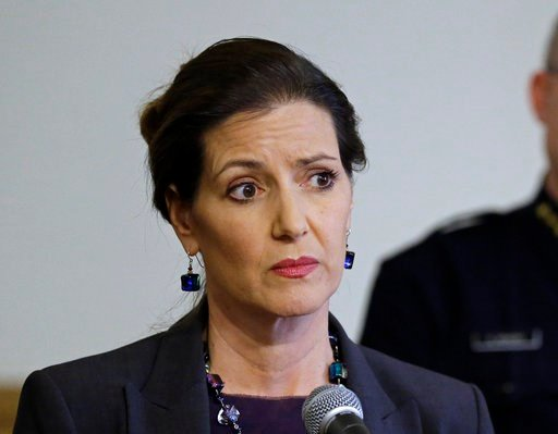 FILE - In this May 13, 2016 file photo, Oakland Mayor Libby Schaaf, speaks at a news conference in Oakland, Calif. (AP Photo/Ben Margot, FIle)