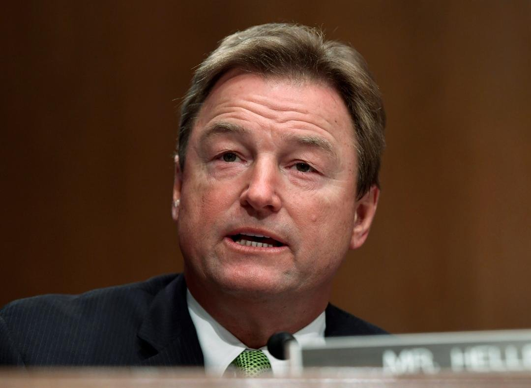 FILE - Sen. Dean Heller, R-Nev. The silent majority may stop Congress from doing anything to address gun violence. They include most Republicans and some vulnerable Democrats. (AP Photo/Susan Walsh)