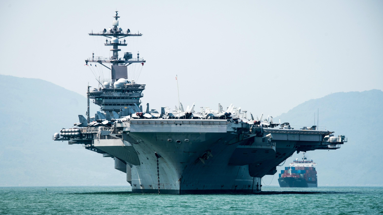 Nimitz-class aircraft carrier USS Carl Vinson arrives in Da Nang, Vietnam for a scheduled port visit. (U.S. Navy photo by Mass Communication Specialist 3rd Class Devin M. Monroe)