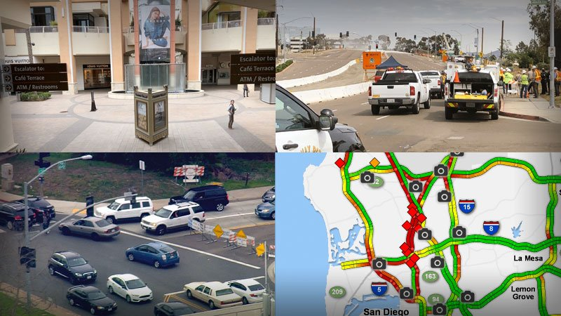 Gas leak prompts Fashion Valley freeway closures and evacuations until this evening