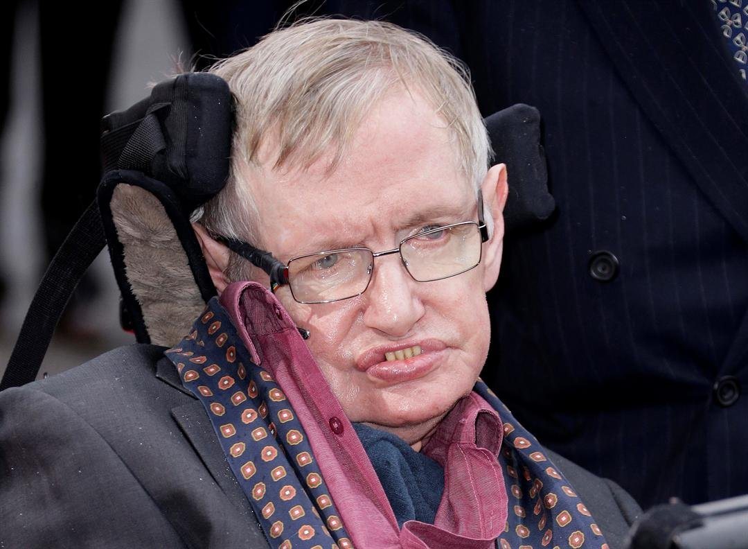 Professor Stephen Hawking arrives for the Interstellar Live show at the Royal Albert Hall in central London.