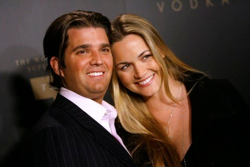 FILE - In a Jan. 17, 2007 file photo, Donald Trump Jr., left, and his wife Vanessa arrive for the Trump Vodka launch party by Drinks America hosted by Donald J. Trump at Les Deux in the Hollywood section of Los Angeles.