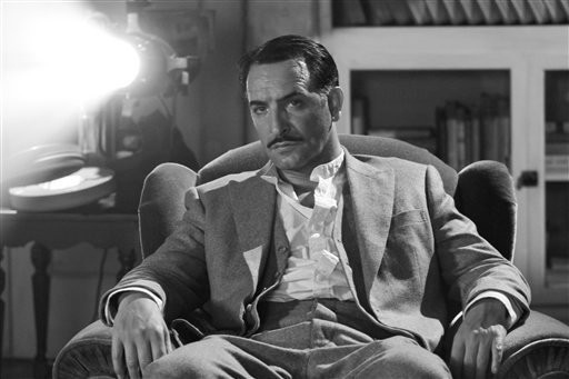 "In this film publicity image released by The Weinstein Company, Jean Dujardin portrays George Valentin in ""The Artist."""