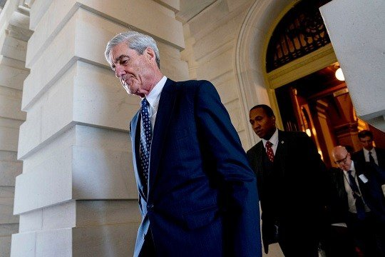 Former FBI Director Robert Mueller, the special counsel probing Russian interference in the 2016 election, departs Capitol Hill.