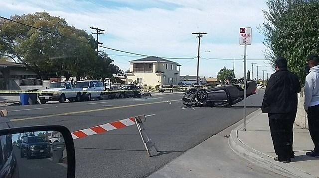 Multi-vehicle crash shuts down road in National City