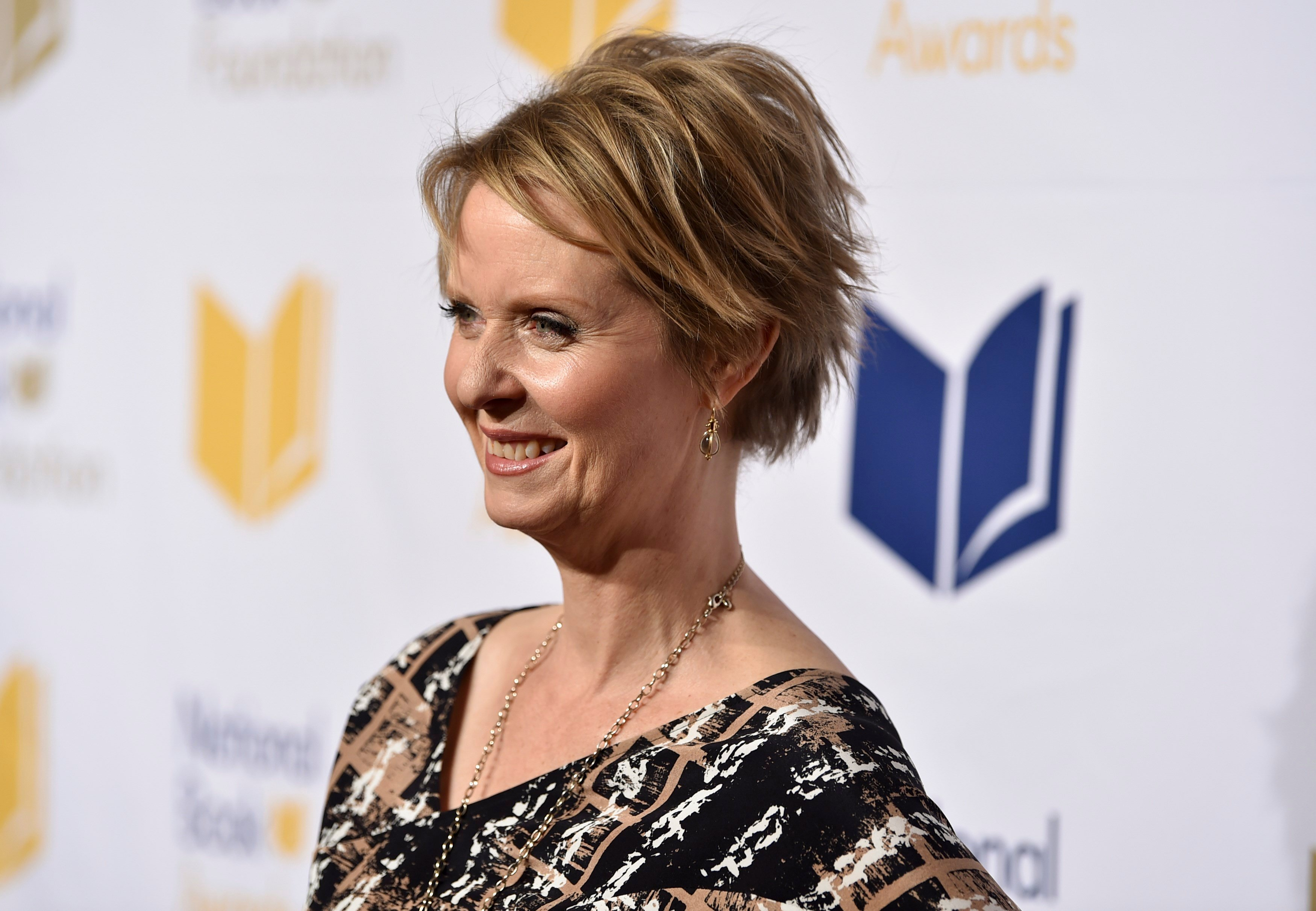 Cynthia Nixon attends the 68th National Book Awards Ceremony and Benefit Dinner at Cipriani Wall Street on Nov. 15, 2017, in New York.