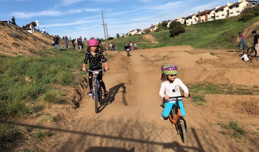 Parents Protest: Bike track built on city property is bulldozed