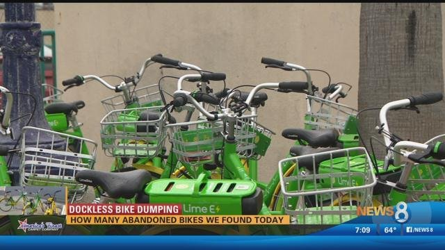 Dockless Bike Dumping: How many abandoned bikes did News 8 find?