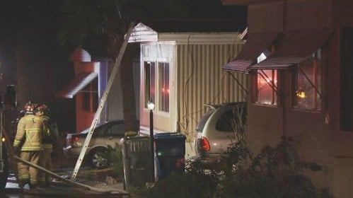 Man rescued from burning Spring Valley mobile home suspected of sparking fire