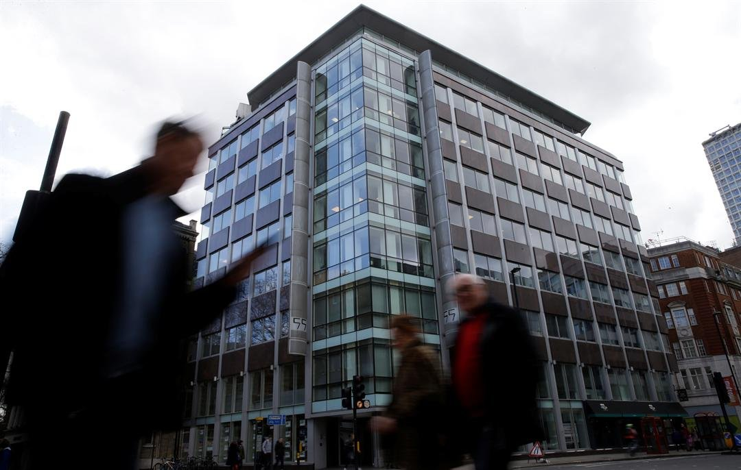 A general view of the building at 55 New Oxford Street that contains offices of Cambridge Analytica in London, Friday, March 23, 2018. (AP Photo/Alastair Grant)