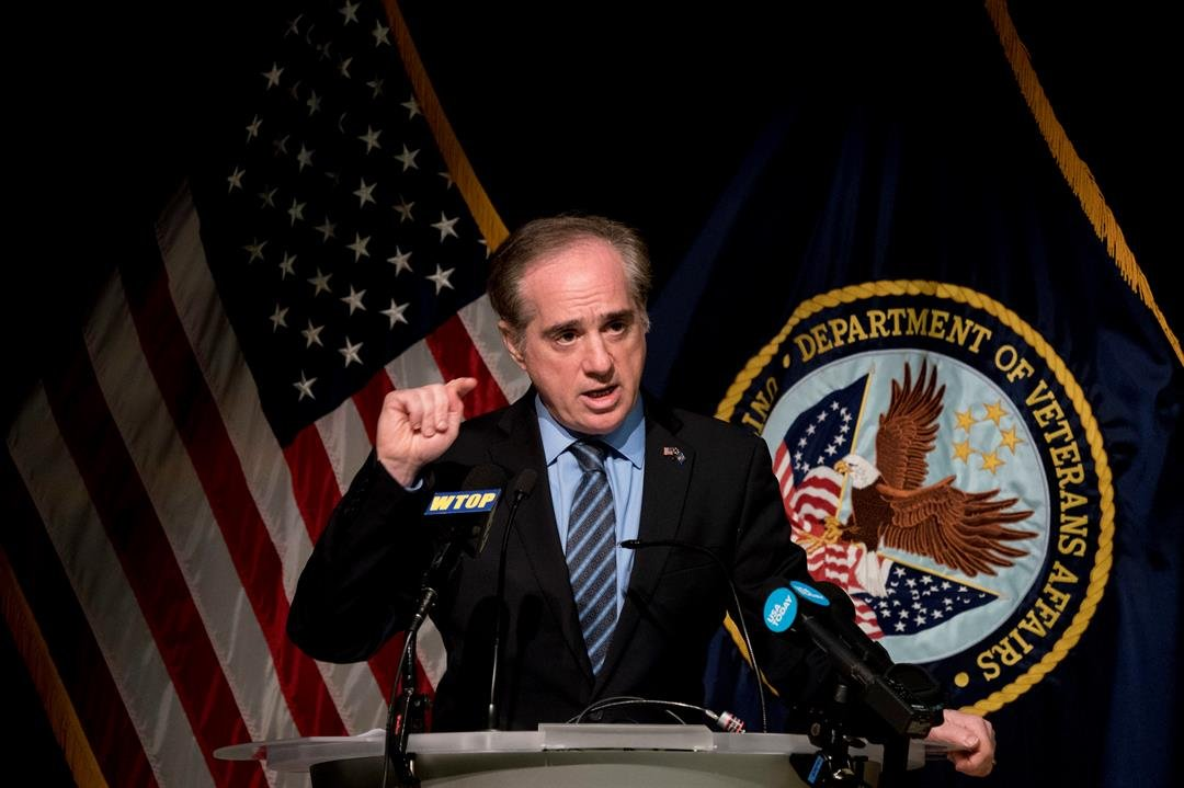 FILE - In this Wednesday, March 7, 2018 file photo, Veterans Affairs Secretary David Shulkin speaks at a news conference in Washington. On Wednesday, March 28, 2018, President Donald Trump fired Shulkin. (AP Photo/Andrew Harnik)