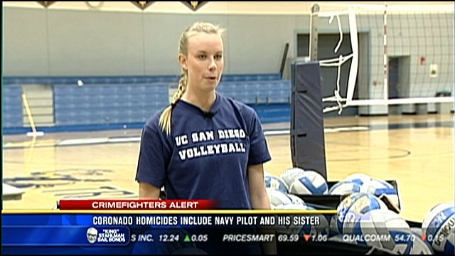 Twenty-four-year-old Karen Reis played volleyball for UCSD. She is seen in the screen shot from an interview News 8 conducted with her in 2009 after a huge win over Cal State San Bernardino.