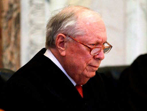 FILE - In this Dec. 6, 2010, file photo, Circuit Judge Stephen R. Reinhardt listens to arguments during a hearing in the Ninth Circuit Court of Appeals in San Francisco. Judge Reinhardt, a liberal stalwart on the U.S. 9th Circuit Court of Appeals, has die