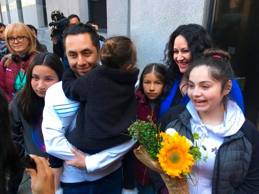 Carrillo, who was arrested by immigration officials after dropping off his daughter at day care in California, has been released from a detention center and will be allowed to remain in the U.S. (AP Photo/Haven Daley)