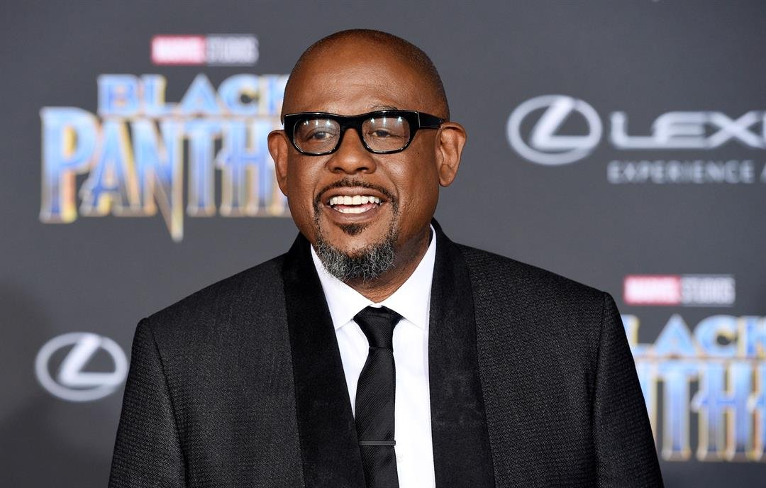 "Forest Whitaker, a cast member in ""Black Panther,"" poses at the premiere of the film at The Dolby Theatre on Monday, Jan. 29, 2018, in Los Angeles."