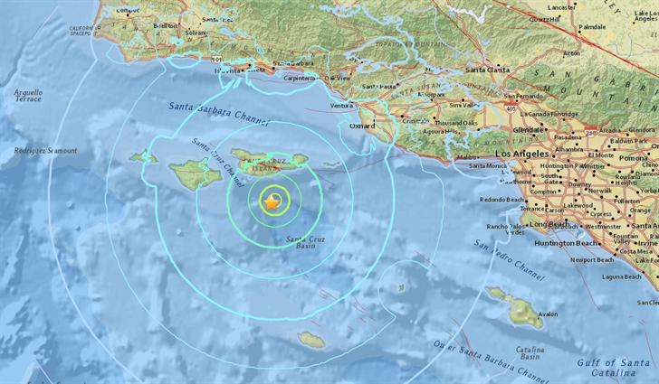 Magnitude 5.3 quake strikes off Southern California coast