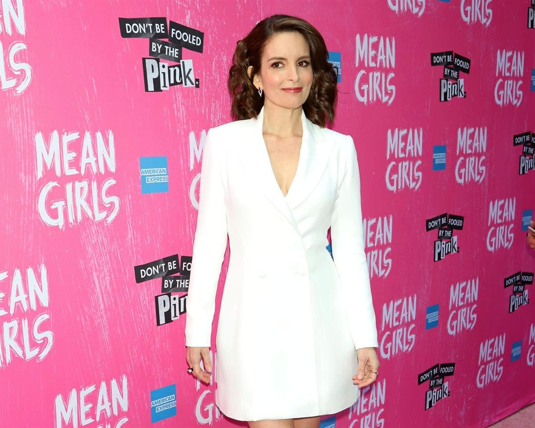 """Tina Fey attends the """"Mean Girls"""" opening night on Broadway at the August Wilson Theatre on Sunday, April 8, 2018, in New York."""