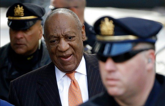 Bill Cosby arrives for his sexual assault trial, Tuesday, April 10, 2018, at the Montgomery County Courthouse in Norristown, Pa.