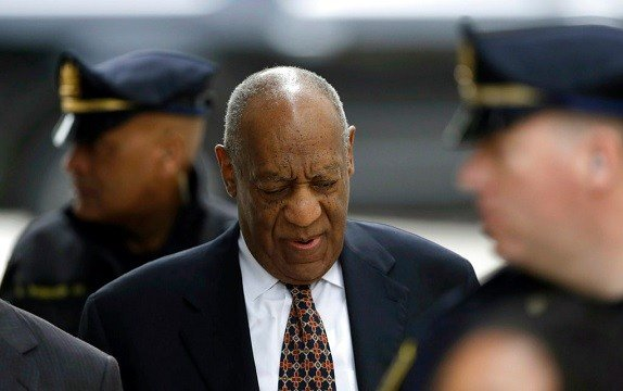 Bill Cosby arrives for his sexual assault trial, Friday, April 13, 2018, at the Montgomery County Courthouse in Norristown, Pa.