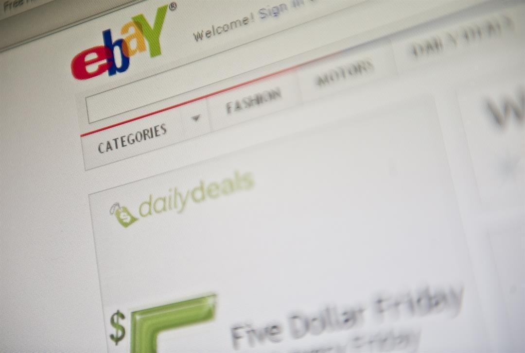 The eBay homepage appears on a screen in Washington on September 3, 2010. AFP PHOTO/Nicholas KAMM (Photo credit should read NICHOLAS KAMM/AFP/GettyImages)