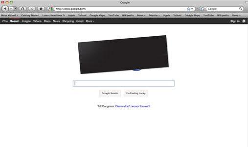 This screen shot shows the home page Google.com. (AP Photo/Google.com)