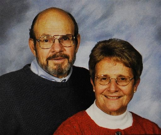 This undated photo provided Monday, Jan. 16, 2012 by the St. Piux X Catholic Church directory in White Bear Lake, Minn. shows Jerry and Barbara Heil.