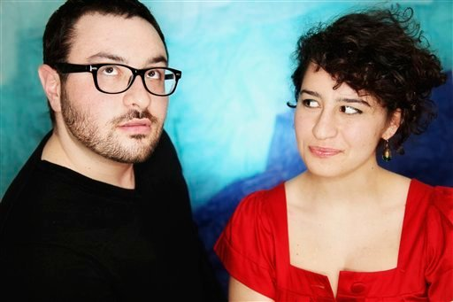 This image courtesy of Mindy Tucker shows comedians Eliot, left, and Ilana Glazer as they pose for a photograph in New York.