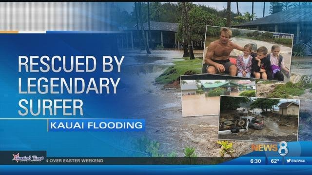 Hawaii Flooding: Famous surfer rescues Encinitas family