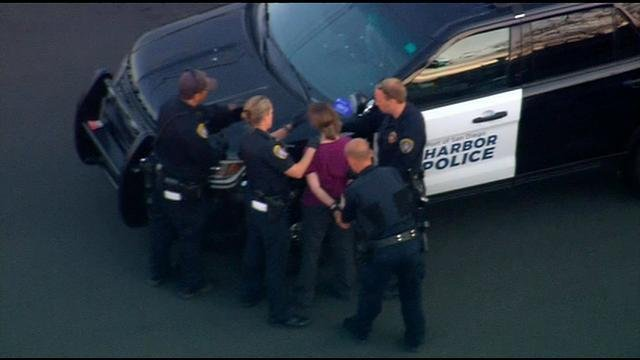 Suspect taken into custody after slow-speed chase ends in Valencia Park