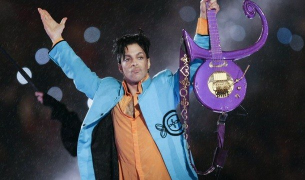 In this Feb. 4, 2007 file photo, Prince performs during halftime of the Super Bowl XLI football game in Miami. (AP Photo/Chris O'Meara, File)